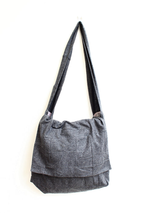 Cambridge - patchwork wool crossbody bag with flap