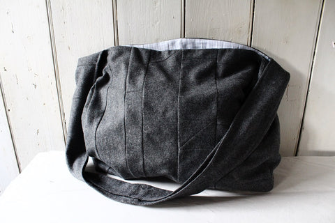 Cambridge - patchwork wool crossbody bag