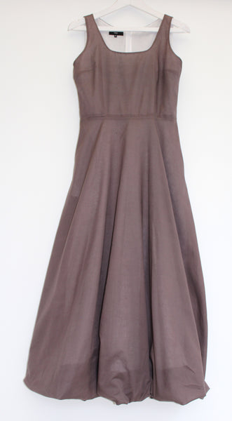 Paris - cotton long dress with bubble hem