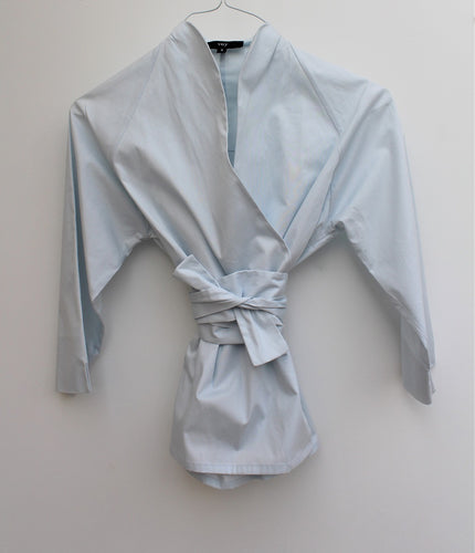Tiffany - cotton wrap shirt