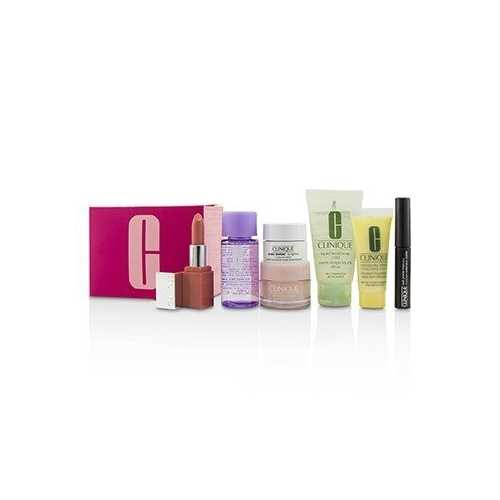 Travel Set: M/U Remover 30ml+Facial Soup 30ml+Moisture Surge 15ml+DDML 15ml+Moisture Cream 7ml+Mascara 2.5ml+Lip Color 2.3g  7pcs
