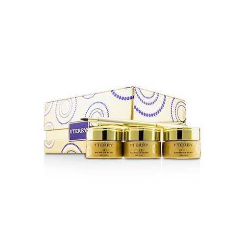 24K Gold Baume De Rose Trio Deluxe Lip Balm Jewels (1x White Gold 10g, 1x Gold 10g, 1x Rose Gold 10g)  3x10g/0.35oz