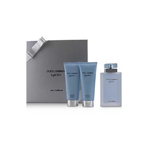 Light Blue Eau Intense Coffret: Eau De Parfum Spray 100ml/3.3oz + Refreshing Body Cream 100ml/3.3oz + Energy Body Bath & Shower Gel 100ml/3.3oz  3pcs