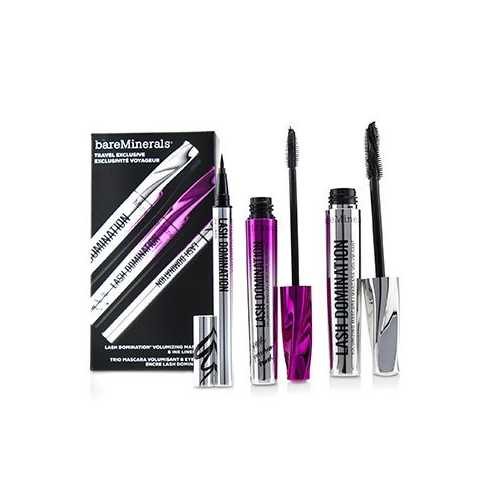 Lash Domination Volumizing Mascara & Ink Liner Trio (2x Mascara, 1x Eyeliner)  3pcs