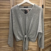 Load image into Gallery viewer, Gray Knot Lounge Sweater