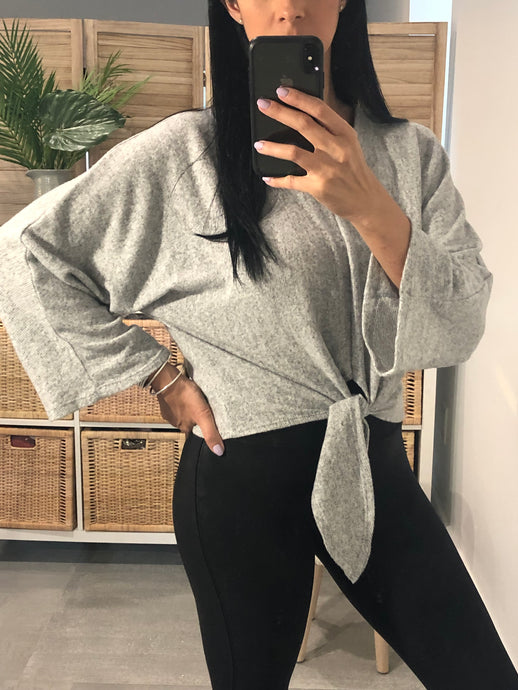 Gray Knot Lounge Sweater