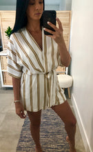 Load image into Gallery viewer, LUSH Linen Stripe Romper