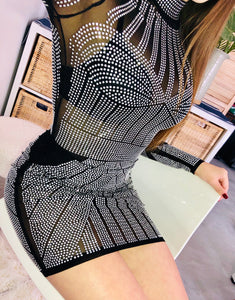 Black + Silver Gem Dress