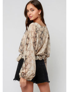 City Girl Snake Blouse