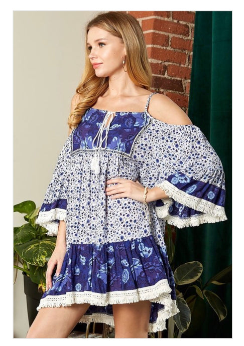 Azul Cold Shoulder Dress