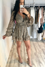 Load image into Gallery viewer, Soiree Leopard Romper