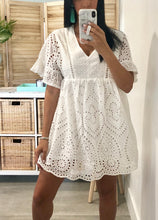 Load image into Gallery viewer, Mykonos Eyelet Dress