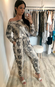 Luxe Snake Jumpsuit