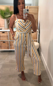 Love Tree Stripe Jumpsuit