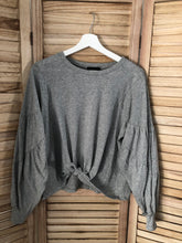 Load image into Gallery viewer, Gray Knotted Long Sleeve