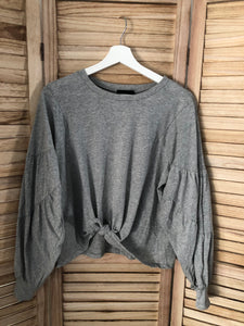 Gray Knotted Long Sleeve