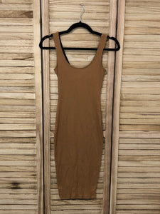 Convertible Midi Dress - Tan