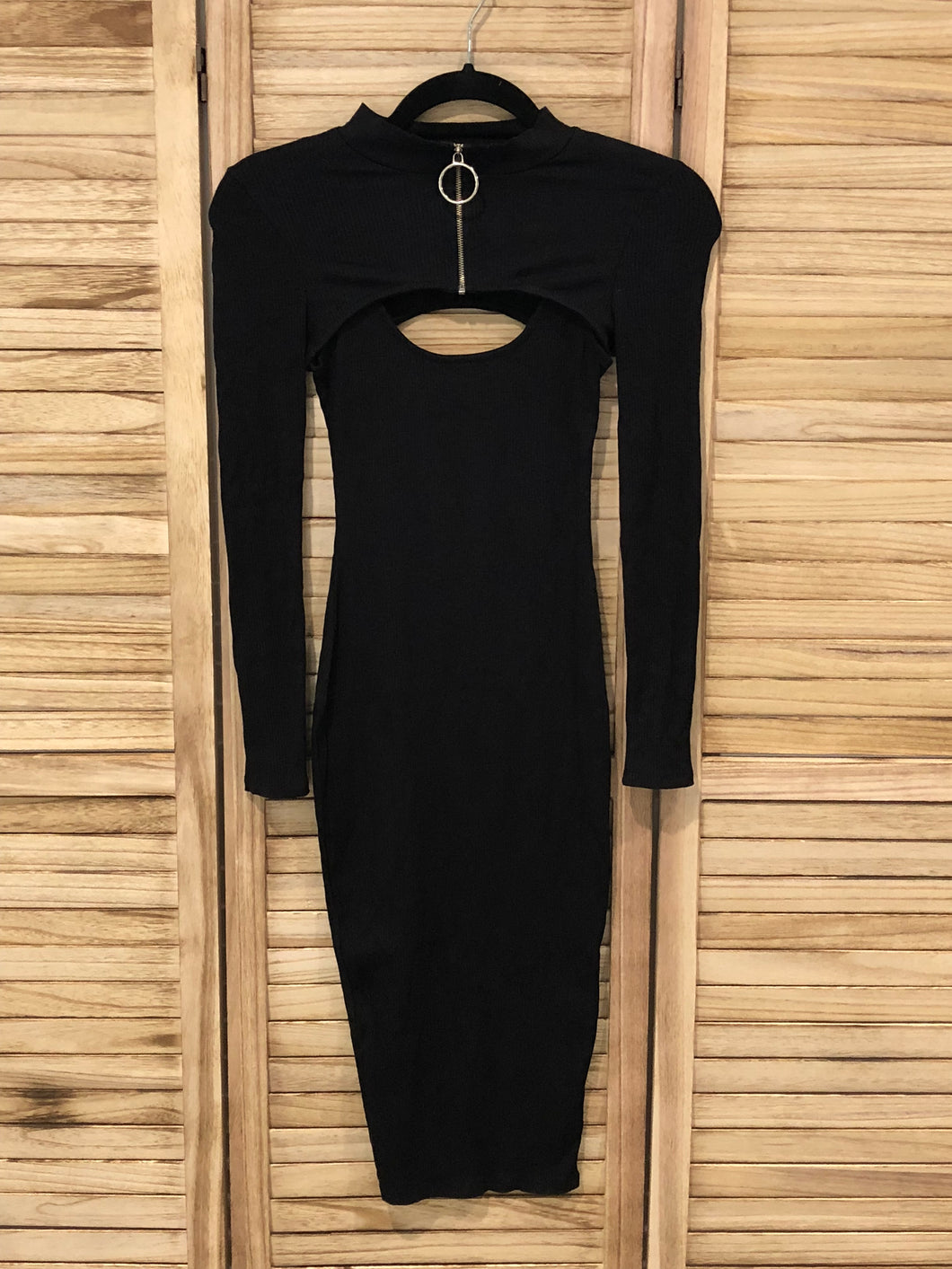 Convertible Midi Dress - Black