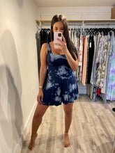 Load image into Gallery viewer, Blue Tie Dye Romper