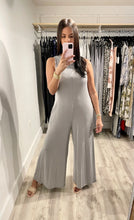 Load image into Gallery viewer, Gray Raw Edge Jumpsuit