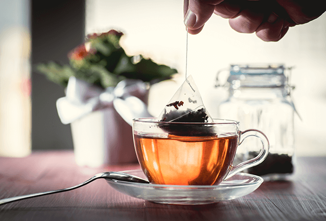 Tea bag beauty hacks
