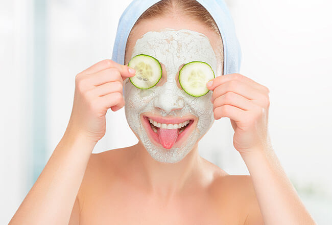 healthy skin cucumber mask
