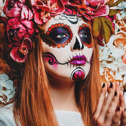 easy halloween makeup skull