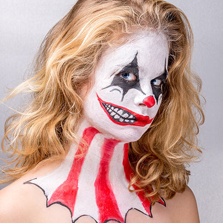 easy halloween makeup clown