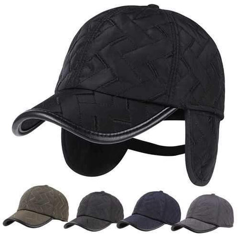 Men Male Earflap Earmuffs Waterproof Baseball Cap Adjustable Blank Golf Sport Outdooors Hat