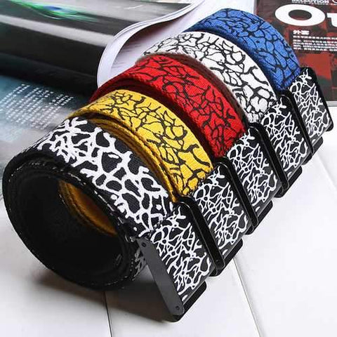 Unisex Belt Crack Explosion Thickened Canvas Smooth Pure Cotton Sports Belts