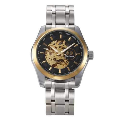 Gucamel GT06 Skeleton Stainless Steel Band Mechanical Men Watch