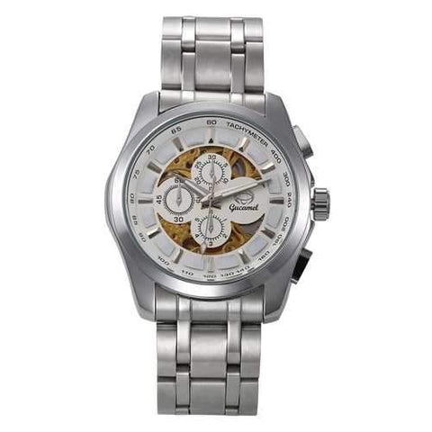 Gucamel GT07 Skeleton Stainless Steel Band Mechanical Men Watch