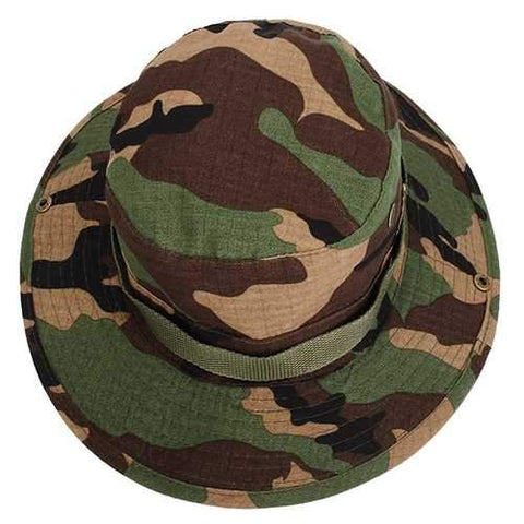 MUXINCAMP Outdoor Fisherman Hat Military Ben Nepalese Jungle Rounded Edges Bucket Hat
