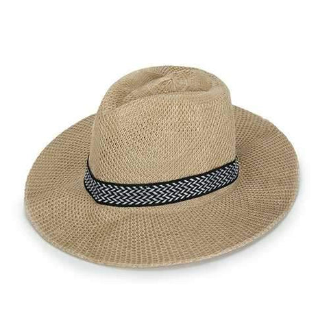 Men Women Polyester Straw Floppy Wide Brim Sun Hat