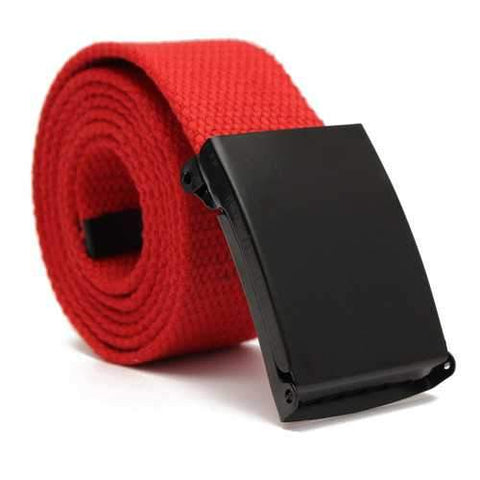 Men Women Plain Webbing Fashion Waist Belt Waistband Casual Canvas Belt 5 Colors