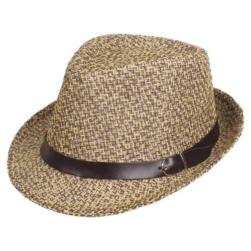 Men Summer Woven Straw Hat Sun Protection Jazz Hat