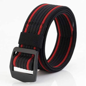 120CM Mens Stretch Braided Elastic Weave Nylon Military Belt