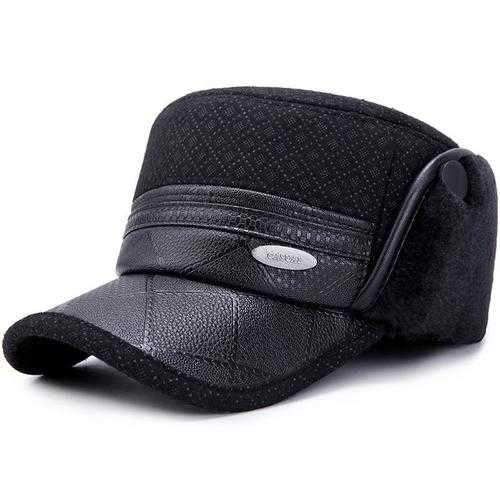Men Women Winter Earmuffs Military Army Cap Peaked Cap