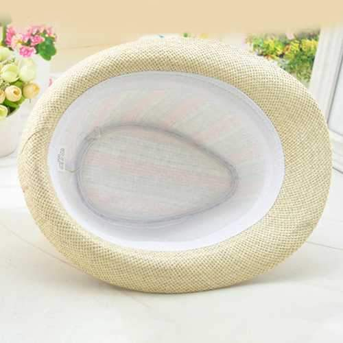 Men And Women Color Vertical Breathable Straw Hat