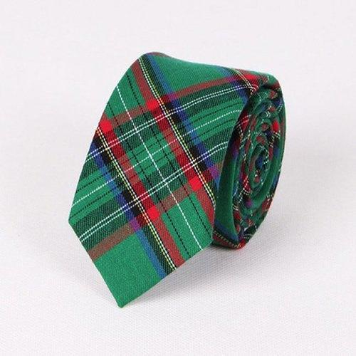 Stylish Tartan Pattern 6.5CM Width Tie For Men - Green