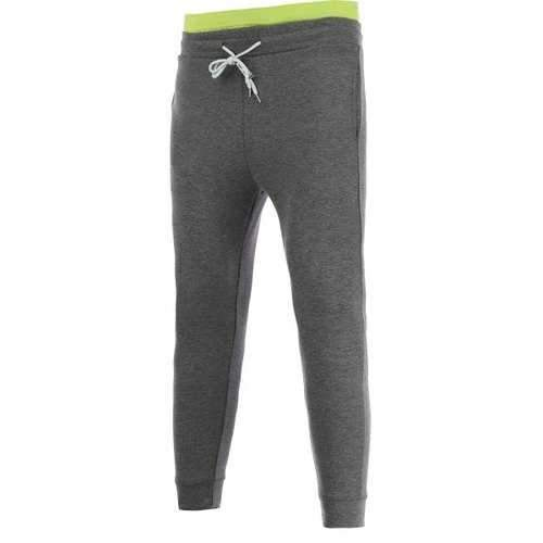 Skinny Color Block Drawstring Jogger Pants - Deep Gray 32