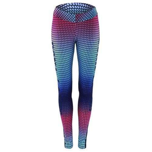 High Waist Print Skinny Gym Leggings - S