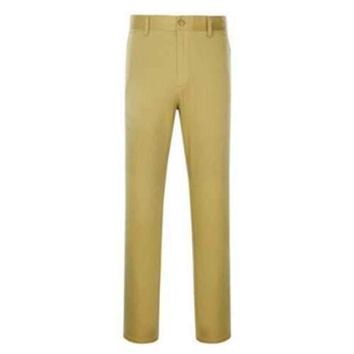 Zipper Fly Simple Straight Leg Slimming Pants - Khaki 37