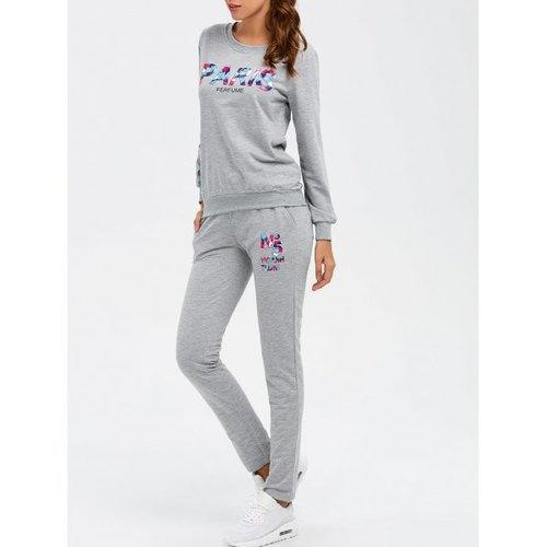 Paris Sweatshirt With Track Leggings - Gray Xl