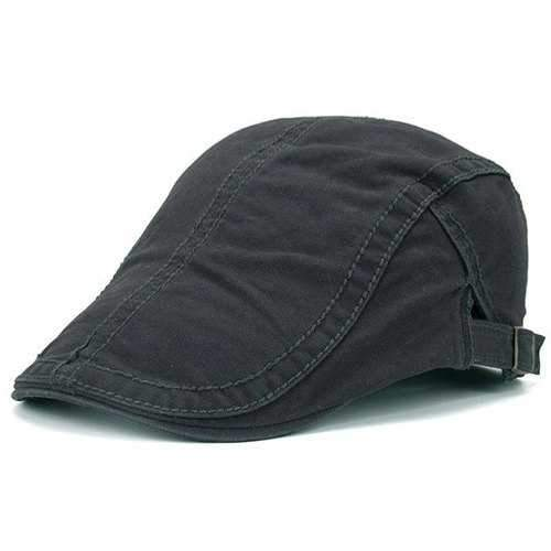 UV Protection Jeff Cap with Sewing Thread - Deep Gray