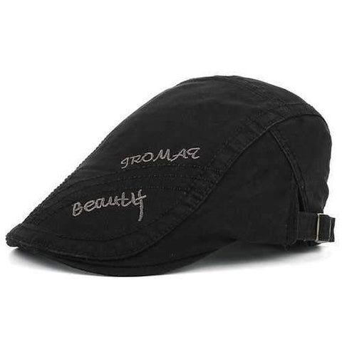Tromaq Beautlf Embroidery UV Protection Jeff Cap - Black