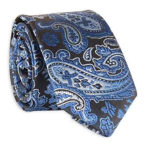 Vintage Tie with Paisley Jacquard - Blue