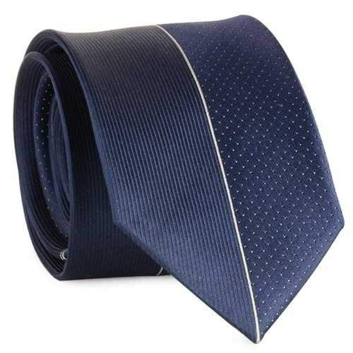 Mulberry Silk Tiny Dot Pinstriped Neck Tie - Cadetblue