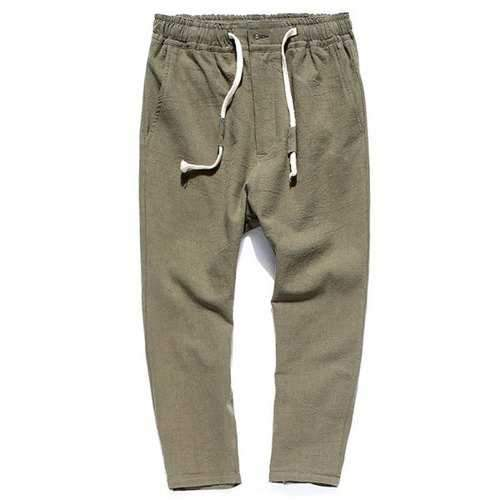 Straight Leg Drawstring Sweatpants - Army Green Xl