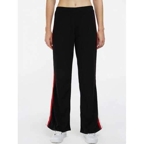 Side Stripe Slit Pants - Black L